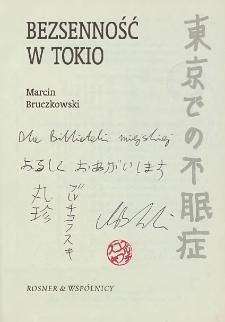 Marcin Bruczkowski - autograf