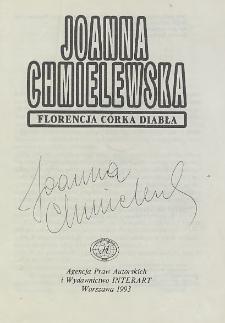 Joanna Chmielewska - autograf