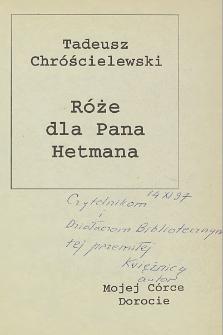 Tadeusz Chróścielewski - autograf