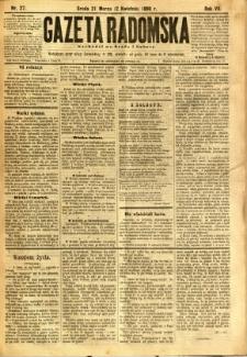 Gazeta Radomska, 1890, R. 7, nr 27