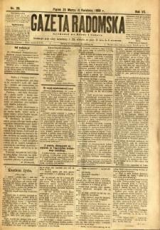 Gazeta Radomska, 1890, R. 7, nr 28