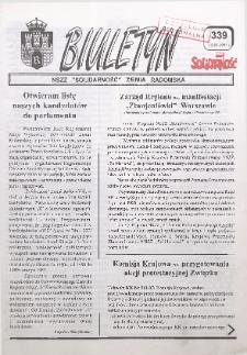 "Biuletyn NSZZ ""Solidarność"" Ziemia Radomska, 1997, nr 339"