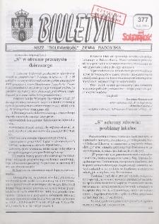"Biuletyn NSZZ ""Solidarność"" Ziemia Radomska, 1998, nr 377"