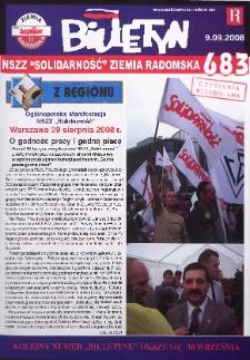"Biuletyn NSZZ ""Solidarność"" Ziemia Radomska, 2008, nr 683"