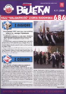 "Biuletyn NSZZ ""Solidarność"" Ziemia Radomska, 2008, nr 686"