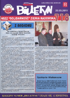 "Biuletyn NSZZ ""Solidarność"" Ziemia Radomska, 2011, mr 718"