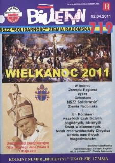 "Biuletyn NSZZ ""Solidarność"" Ziemia Radomska, 2011, mr 719"