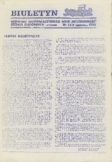 "Biuletyn NSZZ ""Solidarność"" Ziemia Radomska, 1990, nr 28"
