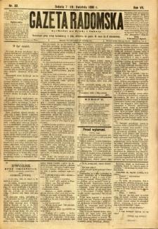 Gazeta Radomska, 1890, R. 7, nr 32