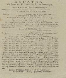 Dziennik Urzędowy Województwa Sandomierskiego, 1851, nr 12, dod.