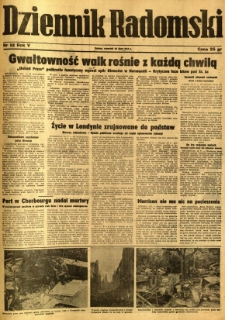 Dziennik Radomski, 1944, R. 5, nr 168