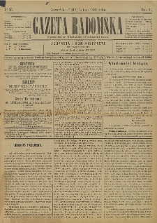 Gazeta Radomska, 1885, R. 2, nr 15
