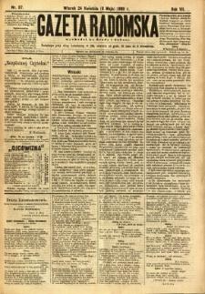 Gazeta Radomska, 1890, R. 7, nr 37