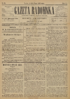 Gazeta Radomska, 1885, R. 2, nr 38