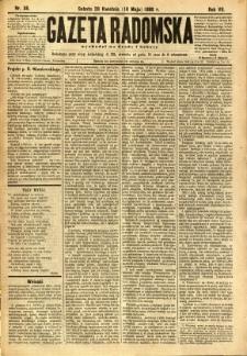 Gazeta Radomska, 1890, R. 7, nr 38