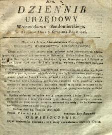 Dziennik Urzędowy Województwa Sandomierskiego, 1826, nr 2