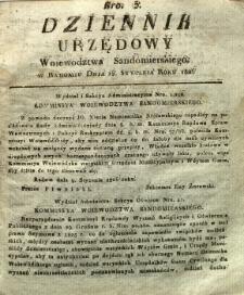 Dziennik Urzędowy Województwa Sandomierskiego, 1826, nr 3