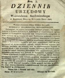Dziennik Urzędowy Województwa Sandomierskiego, 1826, nr 5