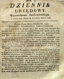 Dziennik Urzędowy Województwa Sandomierskiego, 1826, nr 7