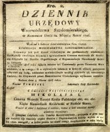 Dziennik Urzędowy Województwa Sandomierskiego, 1826, nr 11