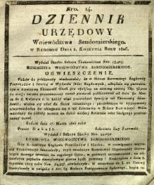 Dziennik Urzędowy Województwa Sandomierskiego, 1826, nr 14