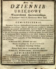 Dziennik Urzędowy Województwa Sandomierskiego, 1826, nr 17