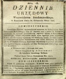 Dziennik Urzędowy Województwa Sandomierskiego, 1826, nr 18