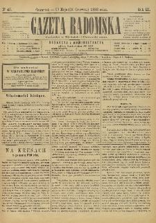 Gazeta Radomska, 1886, R. 3, nr 45
