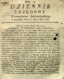 Dziennik Urzędowy Województwa Sandomierskiego, 1826, nr 21