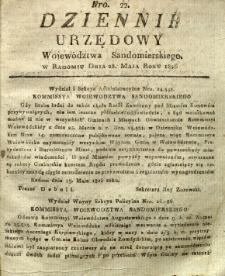 Dziennik Urzędowy Województwa Sandomierskiego, 1826, nr 22