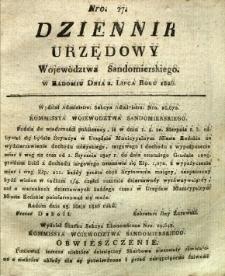 Dziennik Urzędowy Województwa Sandomierskiego, 1826, nr 27