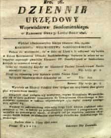 Dziennik Urzędowy Województwa Sandomierskiego, 1826, nr 28
