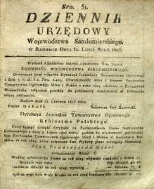 Dziennik Urzędowy Województwa Sandomierskiego, 1826, nr 31
