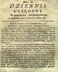 Dziennik Urzędowy Województwa Sandomierskiego, 1826, nr 32