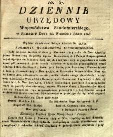 Dziennik Urzędowy Województwa Sandomierskiego, 1826, nr 37