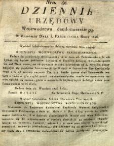 Dziennik Urzędowy Województwa Sandomierskiego, 1826, nr 40