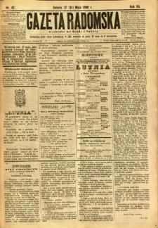 Gazeta Radomska, 1890, R. 7, nr 42
