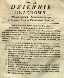 Dziennik Urzędowy Województwa Sandomierskiego, 1826, nr 44