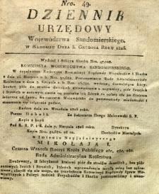 Dziennik Urzędowy Województwa Sandomierskiego, 1826, nr 49
