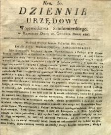 Dziennik Urzędowy Województwa Sandomierskiego, 1826, nr 50