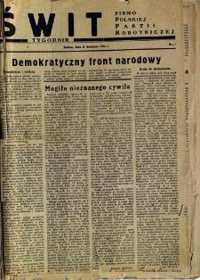 Świt, 1945, R.3, nr 1
