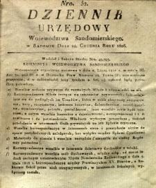 Dziennik Urzędowy Województwa Sandomierskiego, 1826, nr 52