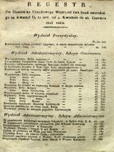 Regestr do Dziennika Urzędowego Województwa Sandomierskiego za kwartał II 1826 r.