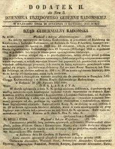Dziennik Urzędowy Gubernii Radomskiej, 1851, nr 5, dod. II