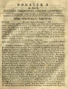 Dziennik Urzędowy Gubernii Radomskiej, 1851, nr 8, dod. I