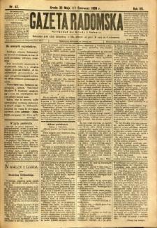Gazeta Radomska, 1890, R. 7, nr 47