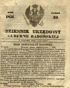 Dziennik Urzędowy Gubernii Radomskiej, 1851, nr 29