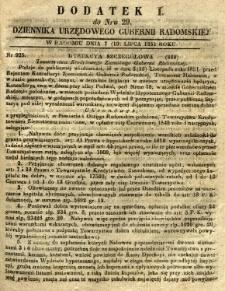 Dziennik Urzędowy Gubernii Radomskiej, 1851, nr 29, dod. I