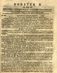 Dziennik Urzędowy Gubernii Radomskiej, 1851, nr 29, dod. II