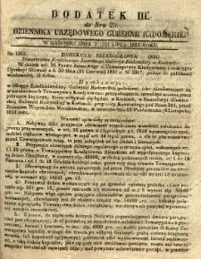 Dziennik Urzędowy Gubernii Radomskiej, 1851, nr 29, dod. III
